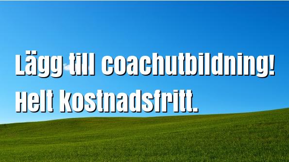 Lägg till coachutbildning!
